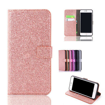 AU14.59 • Buy  For IPhone 11 12 Pro 6 7 8+ Bling Magnetic Flip Leather Wallet Stand Case Cover