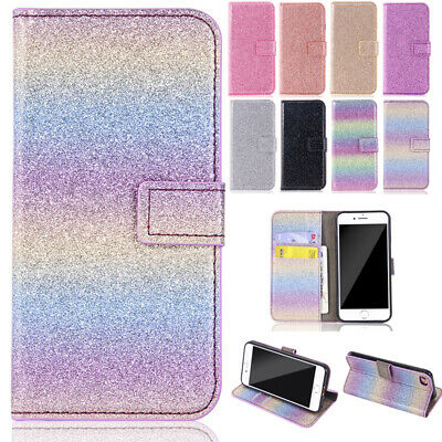 AU12.89 • Buy For IPhone 13 12 11Pro Max 8 Bling Flip Magnetic Leather Wallet Stand Case Cover