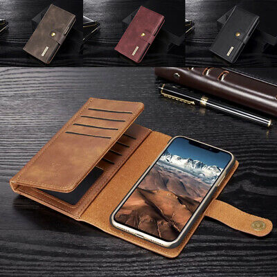 AU27.89 • Buy For IPhone 12 Pro Max 8 7+ Removable Magnet Flip Leather Wallet Card Case Cover