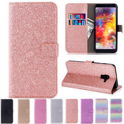 AU14.58 • Buy  For Samsung S7 S20+ A11 A21S Magnetic Glitter Leather Wallet Stand Case Cover