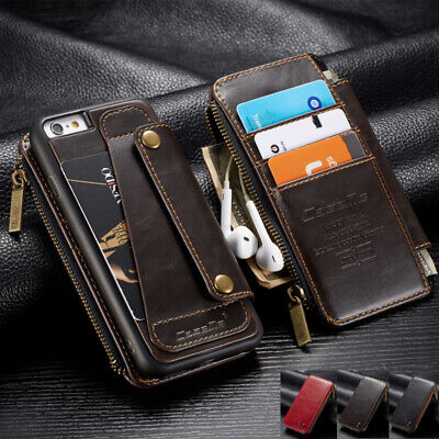 AU18.89 • Buy Removable Leather Case Card Holder Wallet Stand Cover For IPhone 6 6s 7 8Plus X