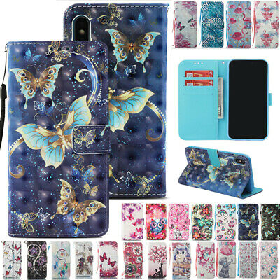AU14.88 • Buy For IPhone XS Max XR X 6s 7 8Plus Patterned Flip Leather Wallet Stand Case Cover