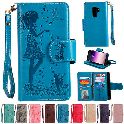 AU19.89 • Buy For Samsung Galaxy Phones Magnetic Flip Leather Wallet Card Slots Case Cover