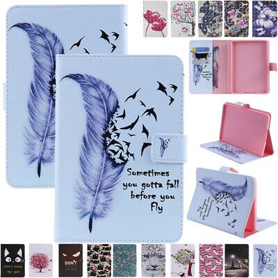AU17.89 • Buy For New Kindle Paperwhite 10th Gen 2018 Patterned Leather Wallet Card Case Cover