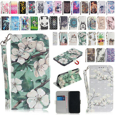 AU14.88 • Buy New Patterned Magnetic Strap Flip Wallet Case Cover For IPhone XS Max 7 8 Plus