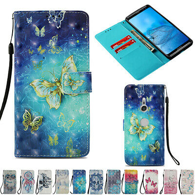 AU14.88 • Buy For Sony Xperia Phones Shockproof Patterned Flip Leather Wallet Strap Case Cover