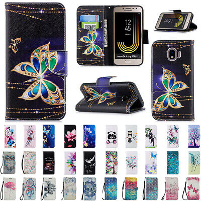 AU14.89 • Buy Patterned Flip Leather Card Case Stand Cover For Samsung Galaxy J2 J3 J5 J7 Pro