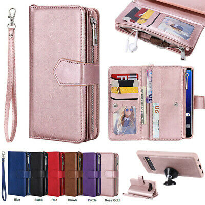 AU21.68 • Buy  For Samsung Galaxy S10 S10e S10Plus Removable Leather Zipper Wallet Case Cover