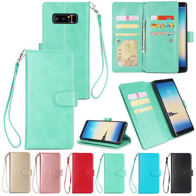 AU16.89 • Buy Magnetic Flip Leather Wallet Card Slots Case Cover For Samsung Galaxy Phones