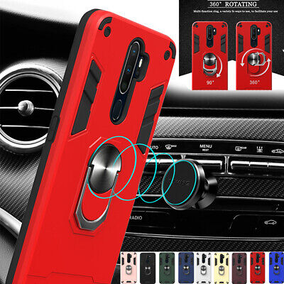 AU14.68 • Buy For OPPO Reno 2Z AX5 AX7 A5 A9 Shockproof Magnetic Ring Holder Hybrid Case Cover