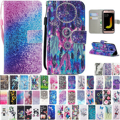 AU14.88 • Buy For Samsung J3 J5 J7 Pro J2Pro Patterned Leather Magnetic Wallet Flip Case Cover