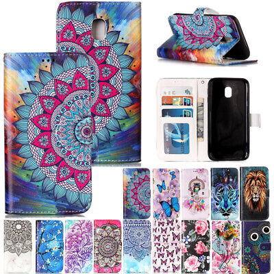 AU14.89 • Buy For Samsung Galaxy J3 J5 J7Pro 2017 Patterned Magnetic Leather Wallet Case Cover