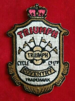 Triumph Motorcycle Vintage Clothing Patch Coventry Trademark Iron On Stitch On • 4.75£