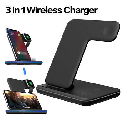 15W Wireless Charger Station Charging Dock Phone Mobile For Iphone Ipod Watch  • 23.12£
