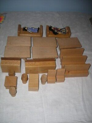 £14.99 • Buy 22 Pieces Of Wooden Dolls Furniture Tables Beds Chairs Benches Cookers Dolls