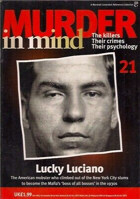 £4.99 • Buy Murder In Mind- Issue 21- Lucky Luciano- Crime, Psychology