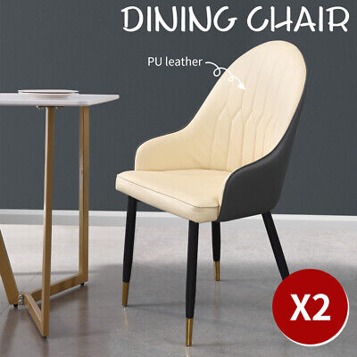 AU149.99 • Buy 2x Dining Chairs Kitchen Steel Chair PU Leather French Provincial Seat Home