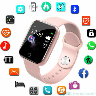 AU19.98 • Buy BLACK Smart Watch Bluetooth Heart Rate Blood Pressure Fitness Tracker IP67 AU