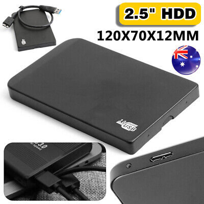 AU35.99 • Buy AU 1TB Storage USB 3.0 External Data Hard Drives Disk 2.5  Storage SATA Black