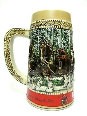 $ CDN38.22 • Buy Vintage Budweiser Holiday Beer Stein Mug Limited Edition Series  C  1987