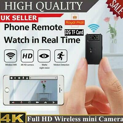 View Details 4K HD MINI IP Camera Wireless WiFi CCTV Indoor Outdoor Spy CAM Home Security IR • 35.59£