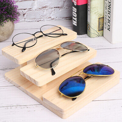 AU18.55 • Buy 3 Layers Wooden Sunglasses Stand Glasses Display Showing Rack Holder