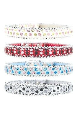 £3.15 • Buy Sparkly Dog Collar Pink Blue Black Or Red Bling Glitter Diamante Diamond (large)