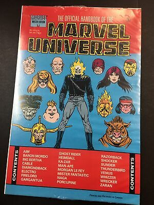$10 • Buy OFFICIAL HANDBOOK OF THE MARVEL UNIVERSE #3 ~ Master Edition  Sealed  NM 1991