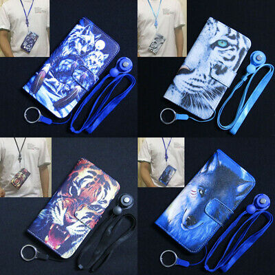 AU9.62 • Buy Wolf Dream Catcher White Tiger Wallet Flip TPU Case Cover For Iphone OPPO Lenovo
