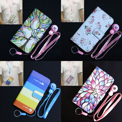 AU9.62 • Buy Colorful Tree Rainbow Rose Flower Wallet Flip Case Cover For Iphone OPPO Lenovo