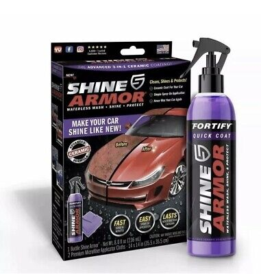 $23.99 • Buy Shine Armor Fortify Quick Coat Ceramic Coating Car Wax Polish Spray Waterless
