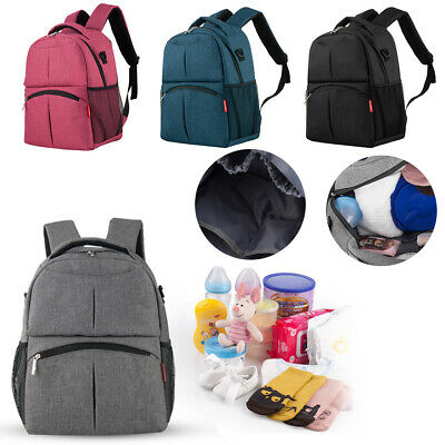 £9.79 • Buy Baby Diaper Nappy Mummy Changing Bag Backpack Set Multi-Function Hospital Bag