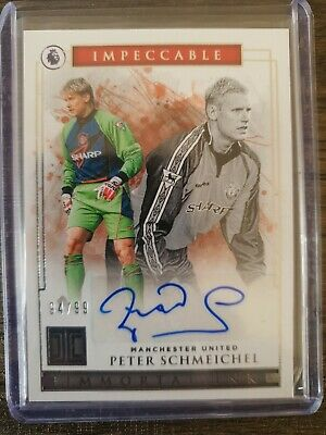2019-20 Panini Impeccable Immortal Ink Peter Schmeichel #94/99 • 100£