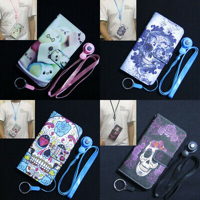 AU9.62 • Buy Cotton Candy Flower Skull Wallet Slot Flip TPU Case Cover For Iphone OPPO Lenovo