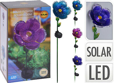 Large Solar Flower Lights Garden Outdoor Stake Path Drive Light Decoration • 12.99£