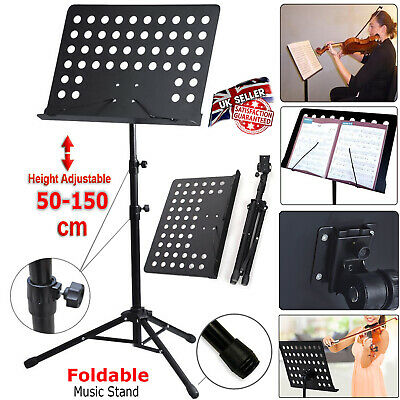 £12.45 • Buy Heavy Duty Foldable Orchestral Music Stand Conductor Sheet Tripod Base Holder UK