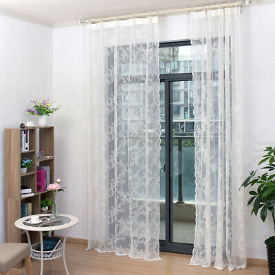 Door Lace Curtain Valance Bedroom Romantic Home & Living Voile Sheer Curtains HY • 6.23£
