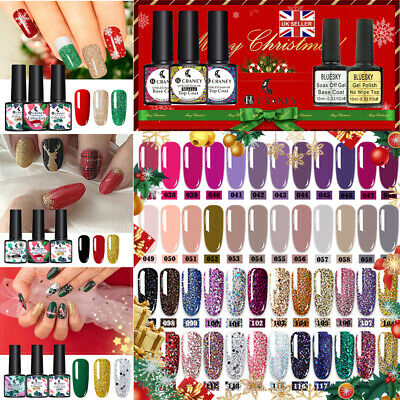 CRANEY Nail UV Gel Polish Glitter Soak Off Varnish Christmas Design Red Green UK • 4.99£