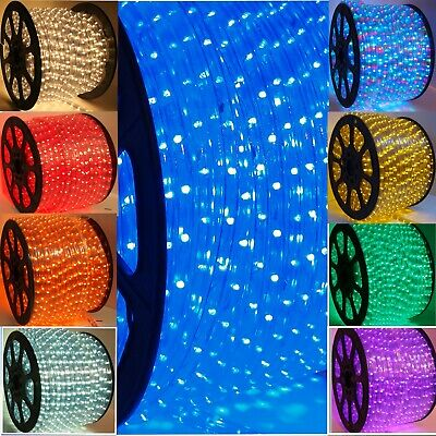 $25 • Buy 13 MM LED Rope Lights 2 Wire Game Room She Shed Man Cave Patio Deck Holiday