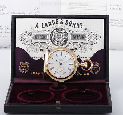£39663.72 • Buy The 3rd Minute Repeater Pocket Watch Produced By Lange & Sohne 18k Gold Box 1883