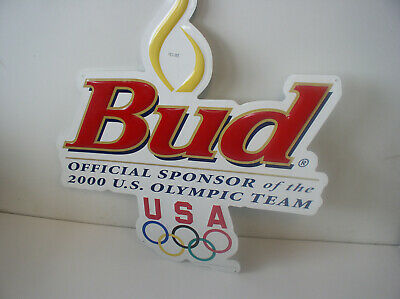 $ CDN34.82 • Buy Budweiser Beer  Metal Sign From 2000 U S Olympic Team 23x21 Inches New Old Stock
