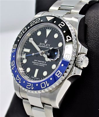 $ CDN20200.35 • Buy Rolex GMT-MASTER II 116710 BLNR BATMAN Black/Blue Ceramic Bezel Watch *MINT*