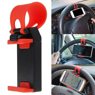 $ CDN4.68 • Buy 1* Car Interior GPS Phone Holder Mount Stand Steering Wheel Clip Accessory Red