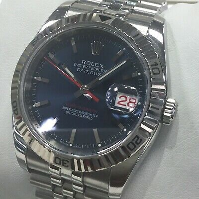 $ CDN11087.58 • Buy Rolex Datejust Turnograph 116264 Blue Dial Stainless Box Paper Rare F Number