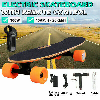 AU281.99 • Buy Kids Adult Electric Skateboard Power Motor With Remote Cruiser Maple Long Board