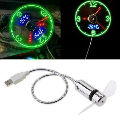 AU19.99 • Buy Hand Display Mini USB Fan Portable Gadgets Flexible LED Clock Cool For Laptop