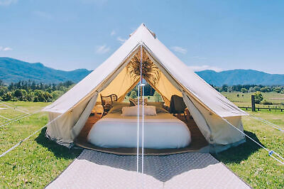 AU999.99 • Buy Bell Tent 6M Double Door Cotton Canvas Waterproof Luxury Glamping Yurts 10Person