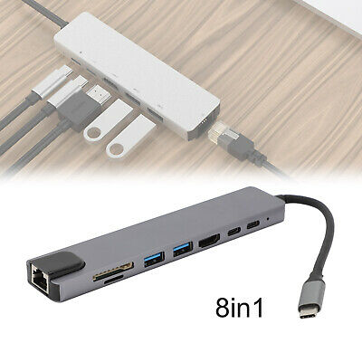 AU17.99 • Buy 8in1 USB-C Type C HD Output 4K HDMI USB 3.0 HUB Adapter For MacBook Pro IPad Pro