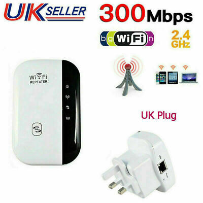 WiFi Signal Repeater Extender Range Booster Internet Network Amplifier UK Plug • 10.95£