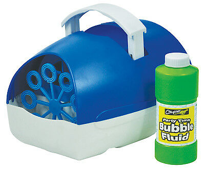 £16.99 • Buy Bubble Machine Battery Operated Portable Blue With Fluid - Cheetah Party Time